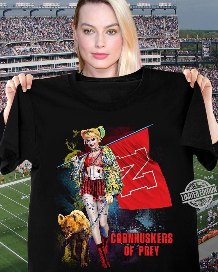 Harley Quinn Cornhuskers Of Prey Shirt